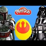 Play Doh Star Wars The Clone Wars Surprise Egg Playdough LightSaber R2-D2 TMNT Mashems
