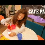 Kids playing at Cafe Paris. Kids Town Indoor Playground. Funny video