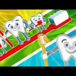 Learn Colors Teeth Brush 3D   Teach Colours Compilation Baby Kids Video by Animated Surprise Eggs TV