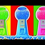 Gumball Machine 3D Color Balls Collection – Learn Colors Compilation for Kids by Surprise Eggs TV