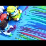 Learn Colors Paw Patrol Bathtime Paint Slide Pool Party Swimming with Peppa Pig Fingerpaint