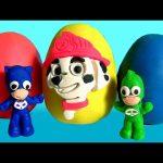 Softee Dough PJ Masks Mold 'n Play 3D Figure Maker Play-Doh Paw Patrol Surprise Catboy Gekko Owlette