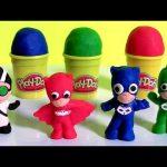 Softee Dough PJ Masks Mold 'n Play 3D Figure Maker DIY Disney Play-Doh Catboy Gekko Owlette Romeo