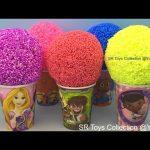 Foam Clay Balls Surprise Eggs Disney Princess Trolls Sofia the First Spiderman Peppa Pig Super Mario