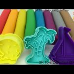 Play and Learn Colours with Play Doh Modelling Clay Ice Cream Bird Boat Molds Fun Creative for Kids