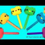 Learn Colours Play Doh Rainbow Hello Kitty Lollipops Peppa Pig Duck Molds Fun and Creative for Kids