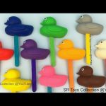 Play and Learn Colours with Playdough Ducks Lollipops Fun for Kids with PJ Masks Elephant Lion Molds