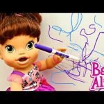 Baby Alive Doll COLORS ON THE WALL!!! Naughty Lucy Baby Doll Crib Escape by DisneyCarToys