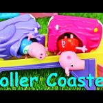 PEPPA PIG Roller Coaster CRASH George Pig is Naughty & Runs Away to the Amusement Park DisneyCarToys