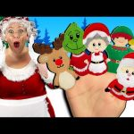 Christmas Finger Family Song | Holidays Finger Family Nursery Rhyme for kids