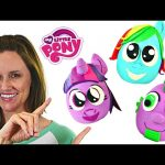 3 Squishy Pop Giant My Little Pony Play Doh Ball Surprise Eggs MLP Cutie Mark Magic Toys DCTC