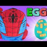 SURPRISE SPIDERMAN BACKPACK ~ Giant Play Doh Egg LEGO Spongebob TMNT Frozen Avengers MLP
