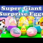 SURPRISE EGGS Paw Patrol and Sheriff Callie Giant Surprise Eggs Toys Video