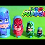 PJ MASKS Stacking Cups Nesting Toys Surprise Owlette Gekko Catboy Luna Girl Romeo Héroes en pijamas