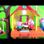 Peppa Pig's Treehouse and Pig George's Fort with Zipline Slide Swing Muddy Puddle Disney Collector