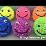 Foam Clay Balls Smiley Face Surprise Toys Spiderman Disney Frozen Snoopy My Little Pony Kinder Egg