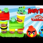 Play Doh Launching Angry Birds Build N' Smash Game How To Make AngryBird Frozen Fashems Superhero