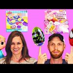TOY HUNTING DCTC – Surprise Eggs Easter Baskets Play Doh Disney Frozen Hello Kitty Barbie Backpack