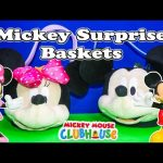 MICKEY MOUSE Disney Mickey & Minnie Surprise Baskets Surprise Toys + Egg Video