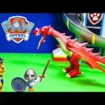 PAW PATROL Nickelodeon Paw Patrol Against a Dragon Toys Video Parody