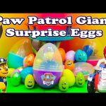 PAW PATROL Nickelodeon Huge Surprise Eggs Funny Paw Patrol Surprise Egg Toys Video