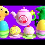 Play Doh Peppa Pig Tea Party Set Playdough Cupcake Surprise Play-Doh Food Toys for Kids