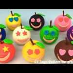Fun Play and Learn Colors with Play Doh Apples Smiley Face with Minions Molds for Kids