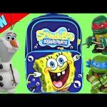 SURPRISE BACKPACK Surprise Eggs TMNT Spongebob Squarepants Frozen Sonic Batman Play Doh Egg