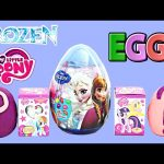 NEW Frozen Easter Surprise Eggs 2015 My Little Pony Disney Princess Play Doh Mystery Egg DCTC