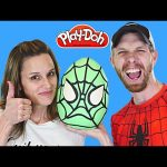 MEGA Surprise Egg Play Doh Spider-Man ★ TMNT Kinder LEGO Barbie Batman Superhero Eggs