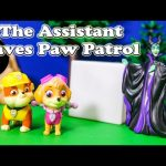 PAW PATROL Nickelodeon The Assistant Saves Paw Patrol Toys Video Parody