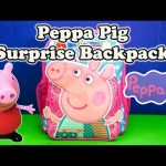 PEPPA PIG Nickelodeon Peppa Pig Surprise Backpack a Peppa Pig Candy and Toys Video
