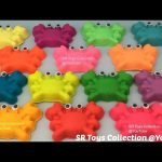 Play Doh Crabs with Star Heart Circle Shapes Cookie Cutters Fun and Creative for Kids