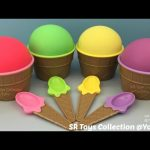 Play Doh Ice Cream Surprise Cups and Toys Finding Dory Mickey Mouse TMNT Disney Frozen Chocolate Egg