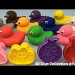 Play and Learn Colours with Play Doh Ducks and Angry Birds Molds Fun Creative for Kids