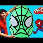 SPIDERMAN Super Big Surprise Egg ★ Giant Superhero Play Doh Egg Surprise Creation! Huevo Sorpresa