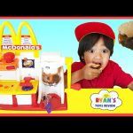 MCDONALD'S HAMBURGER MAKER & McDonald's Cash Register Toys for Kids pretend Play Feed Pet Shark food