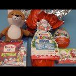 Kinder Surprise Egg Christmas Party!  Opening New Huge Giant Jumbo Kinder Surprise Eggs!