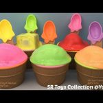 Ice Cream Clay Slime Surprise Toys Snoopy Transformers Finding Dory Surprise Eggs Minecraft BlindBox