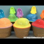 Ice Cream Clay Slime Surprise Eggs Disney Cars Princess Finding Dory Inside Out My Little Pony Toys