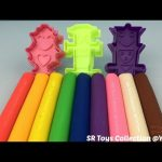 Play and Learn Colours with Play Doh Modelling Clay with Robots Cookie Cutters