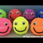 Playfoam Smiley Face Surprise Eggs Masha and the Bear Pikachu Party Animals Frozen Olaf Toys