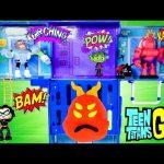 BIG PLAY DOH EGG Teen Titans Go! T-Tower Superhero Robin's T-Car DC Surprise Toys DCTC