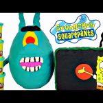 Giant Play Doh Plankton Surprise Egg Spongebob Squarepants How To Make Playdough Eggs DCTC
