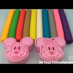 Fun Learning Colours with Play Doh Modelling Clay Mickey Mouse and Minnie Mouse Cookie Cutters