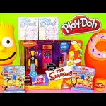 Play Doh Simpsons Bart + Homer Donut Surprise Eggs Noiseland Arcade Playset Lego Toys Playdough DCTC