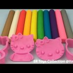 Fun Learning Colours with Play Dough Modelling Clay with Hello Kitty Cookie Cutters
