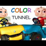 Five Little Babies Driving Through The Color Tunnel | Nursery Rhymes & Kids Songs | Compilation