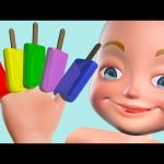 Colors Learning for Kids with 3D Ice Cream Baby Finger Family Song – Learn Colours for Children