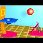Learn Colors Collection, Color Basket Ball Cartoon Animation For Children, Teach Colours 3D for Kids